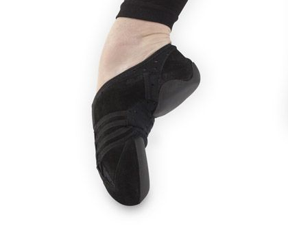 Ref: PP15    Capezio's latest ultra light dance sneaker Made with supple suede and perforated neoprene for breathability. Velcro strap for security and increased arch suport. Elastic lacing  system and slip on styling for a clean line and easy on/off fit.