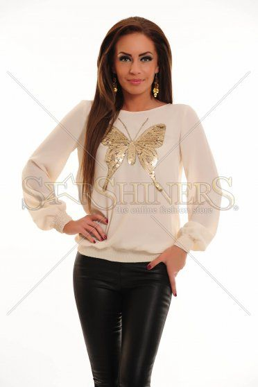Bluza LaDonna Cute Butterfly Nude