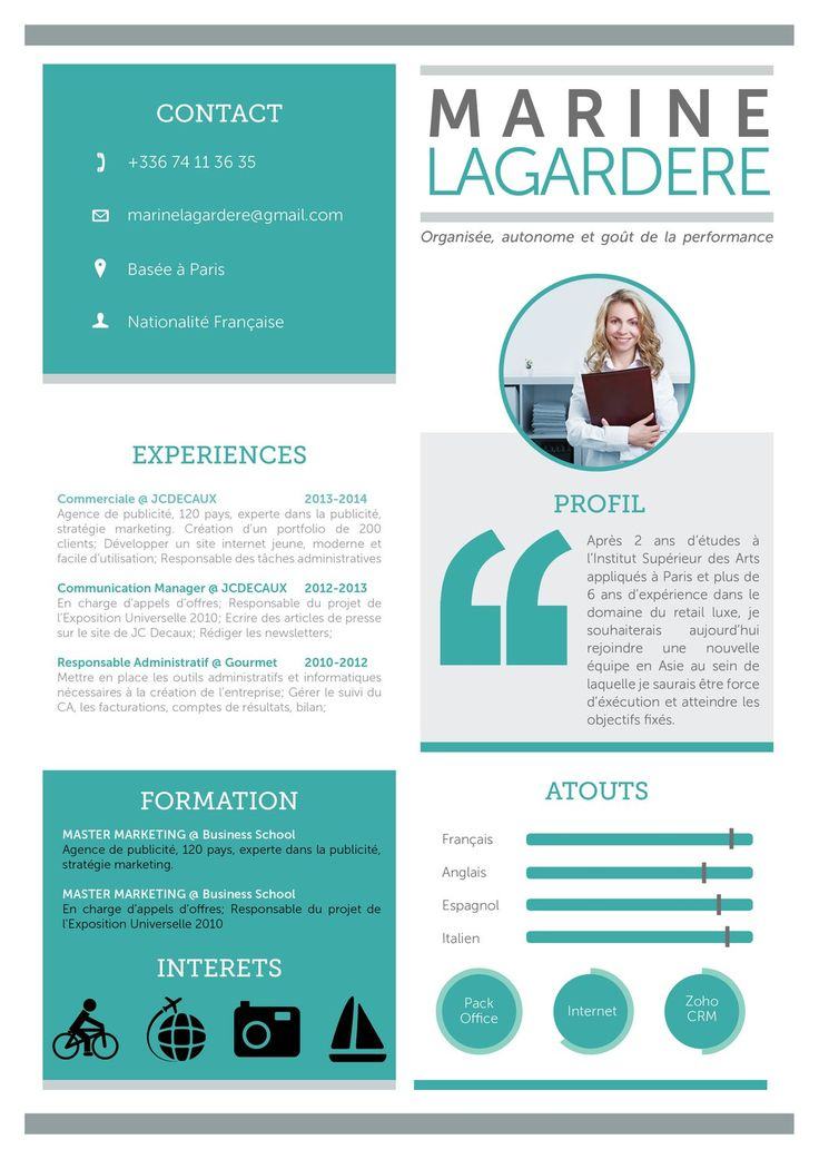 Célèbre 121 best C V images on Pinterest | Design resume, Resume cv and  VD56