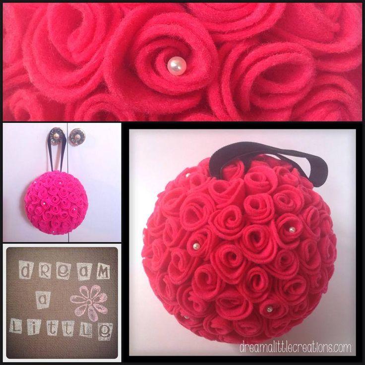 Handmade by dream a little. Gorgeous rose ball bouquet.