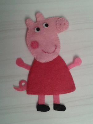 De Fieltro en Fieltro: BROCHE DE PEPA PIG