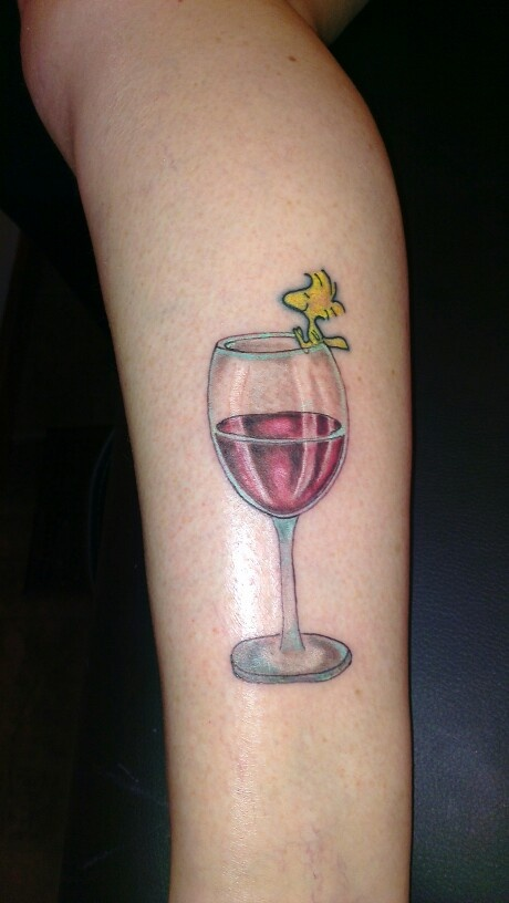 Woodstock wine glass tattoo tattoos pinterest for Small cocktail tattoos