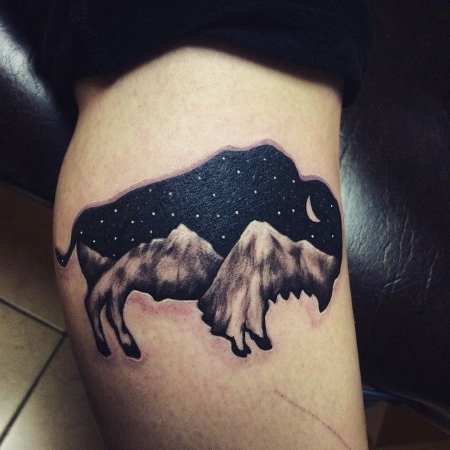 Art by Sam Larson, Tattoo done by Patrick Haller from Lucky Monkey Tattoo