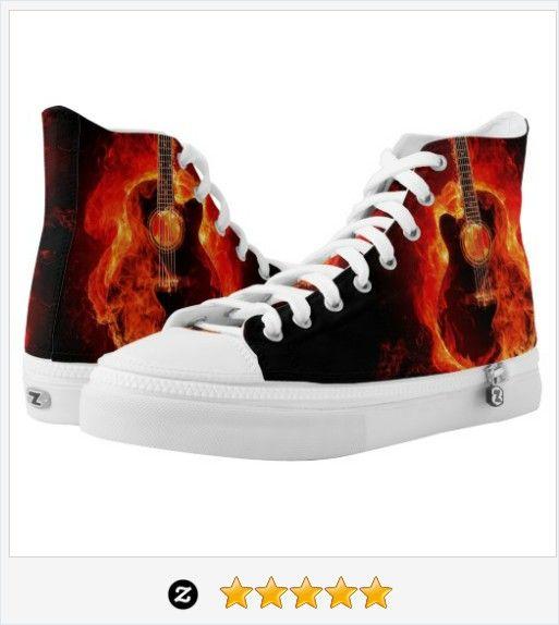 #Zipz High Top #Shoes, Burning #Guitar Flames, #Music @ZipZ #JustSold #ThankYou :) https://www.zazzle.com/zipz_high_top_shoes_burning_guitar_flames_music-256201653405476220