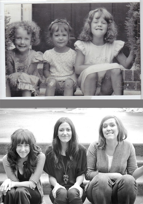 Recreating our most well-known childhood photos!