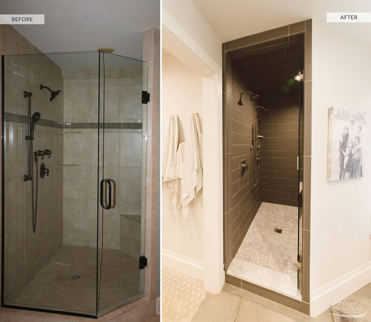 26 best before after bathrooms by home innovations of for Bath remodel tulsa