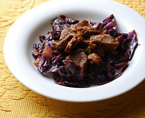 Skillet Pork and Cabbage Recipe - 3 Point Value - LaaLoosh