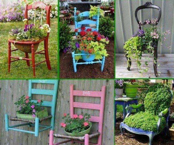 Foto: Een oude stoel als plantenbak. Geplaatst door MarMeer op Welke.nl