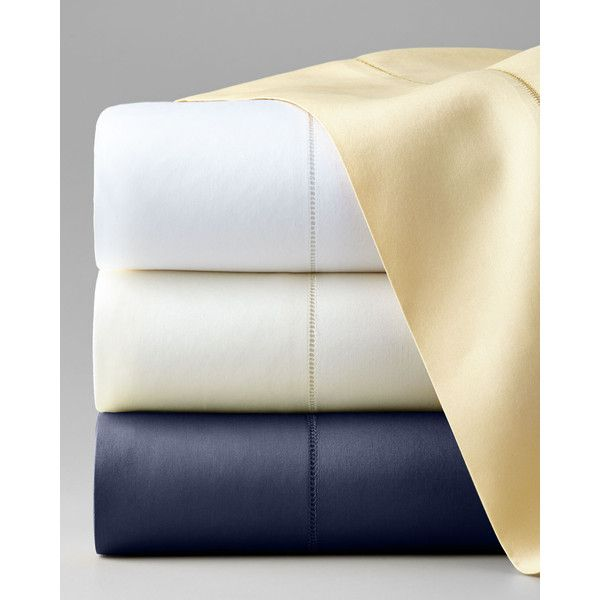Sferra Queen Classic Sateen 590TC Fitted Sheet featuring polyvore, home, bed & bath, bedding, bed sheets, celadon, queen bedding, italian bedding, queen bed linens, queen fitted bed sheet and sateen bedding