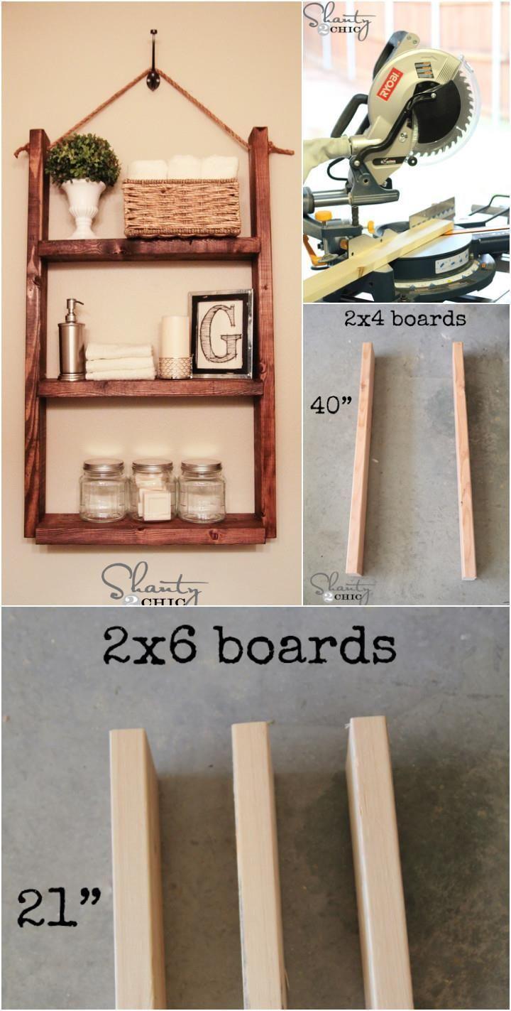 10 Hanging Bathroom Shelves Diy 50 Diy Shelves Build Your Own