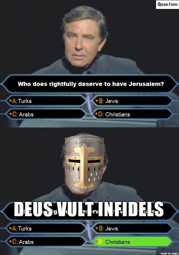 Deus Vult | Know Your Meme