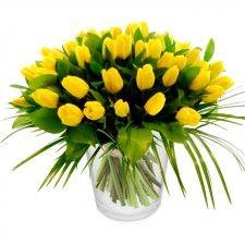 Tulpenboeket Geel