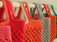 tricoter un filet a provision Plus