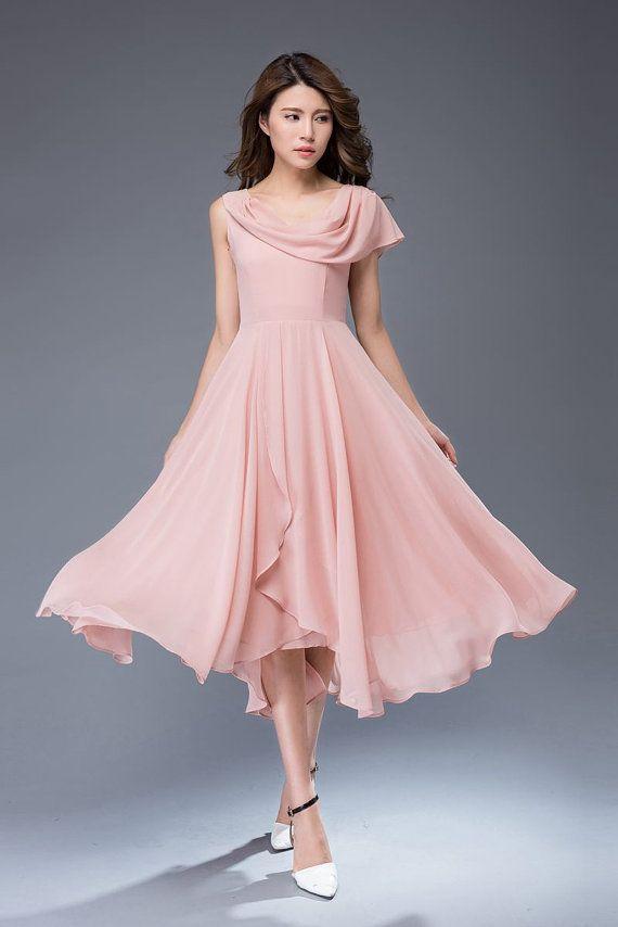 Best 25  Pink chiffon dress ideas on Pinterest | Chiffon dresses ...