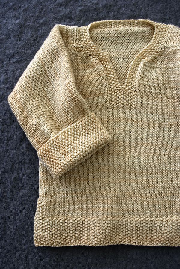 Easy Pullover For Babies, Toddlers And Kids By Purl Soho - Free Knitted Pattern - (ravelry)