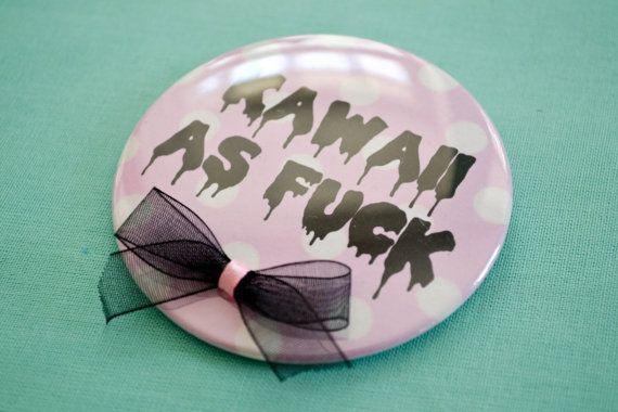 7.5cm+Kawaii+Button+mit+Schleifen+von+Mademoiselle+Opossum+auf+DaWanda.com