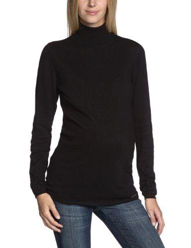 ESPRIT - Jersey premamá con cuello cisne de manga larga para mujer, talla 36, color negro 001