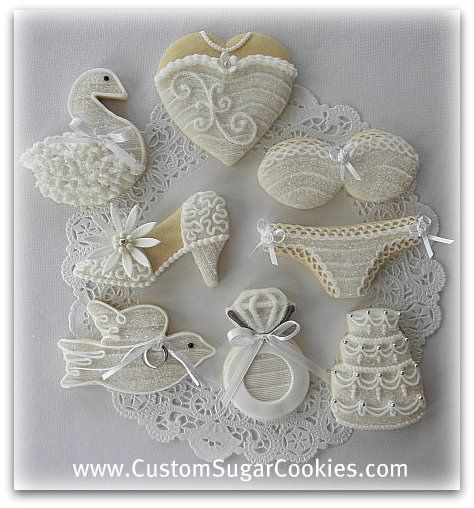 Some of the cookies I made for a Bridal shower. www.CustomSugarCookies.com www.ThePartiologist.blogspot.com :)