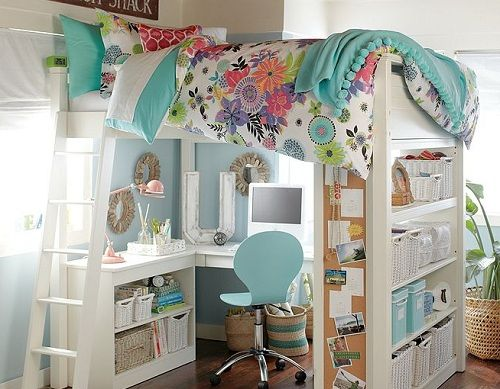 Sleep And Study Tropical Garden Loft Bed For Your Teenage