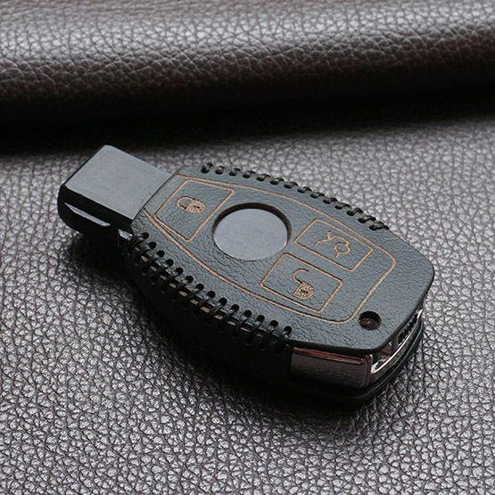 정품 가죽 자동차 키 커버 지갑 세트 가방 메르세데스 벤츠 S 클래스 w203 w210 w211 열쇠 고리 홀더 키 체인 액세서리
