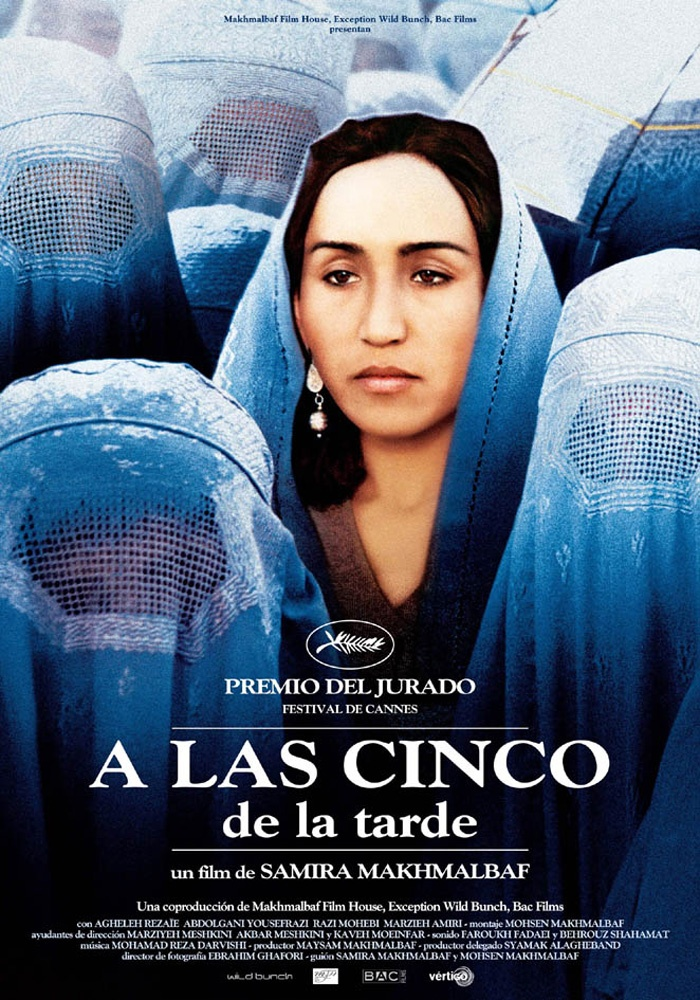"""""""A las cinco de la tarde / Panj é asr"""", (Iran-França 2003). Direcció: Samira Makhmalbaf. Tema: El dret de les dones a l'Educació."""