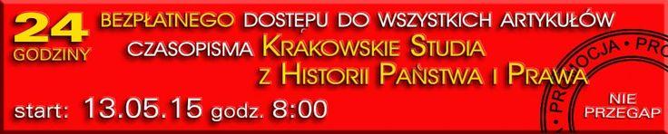 Dzień darmowego dostępu do Krakowskich Studiów z Historii Państwa i Prawa