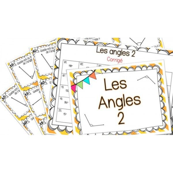 Les angles 2 - Cartes à tâches !