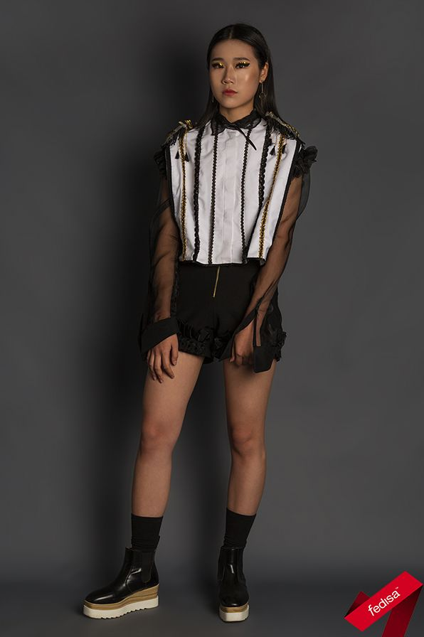 Students were instructed to conceptualise and create a unique garment inspired by luxury brand Balmain.