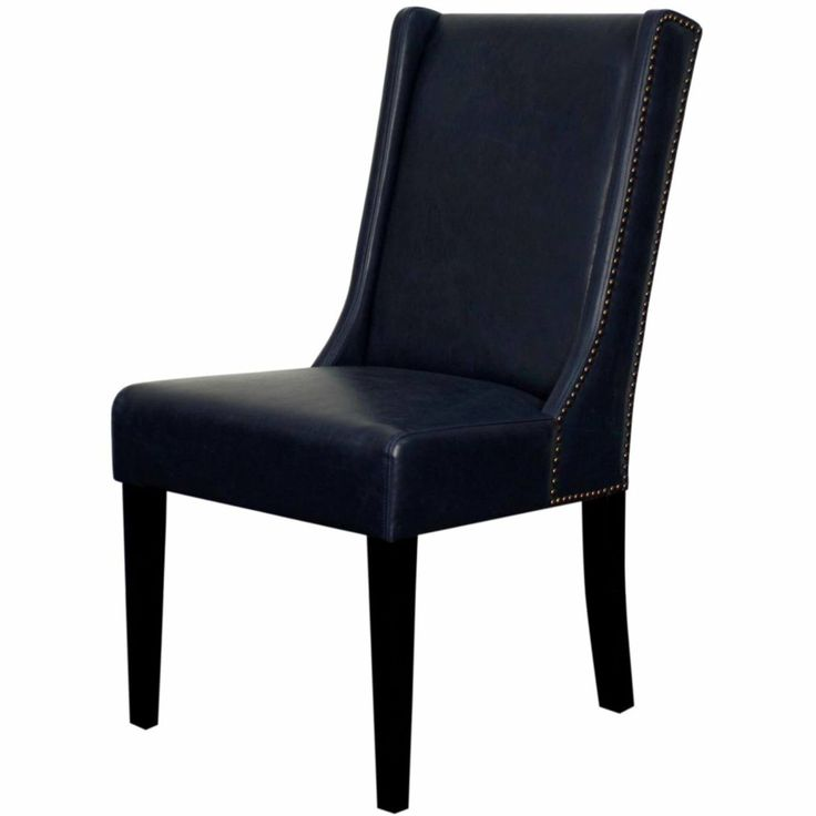 Holden Bonded Leather Dining Chair Black Legs, Vintage