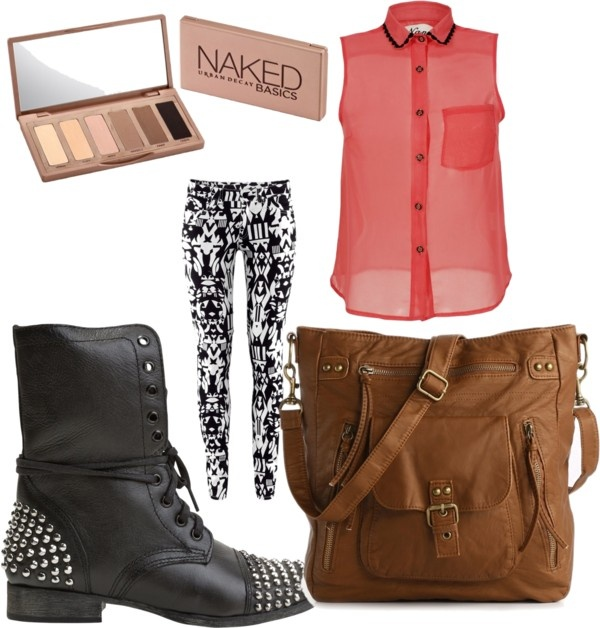 """""""First Day of High School !"""" by hannahfattah ❤ liked on Polyvore"""