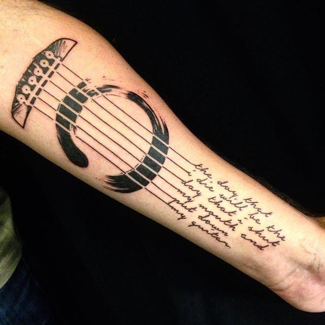 best 25 guitar tattoo ideas on pinterest. Black Bedroom Furniture Sets. Home Design Ideas
