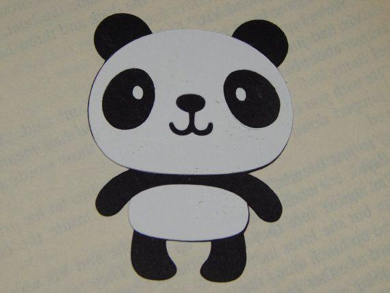 Panda Die Cuts - Set of 4 - Scrapbook - Scrapbooking - Diaper Cake - Zoo - Safari