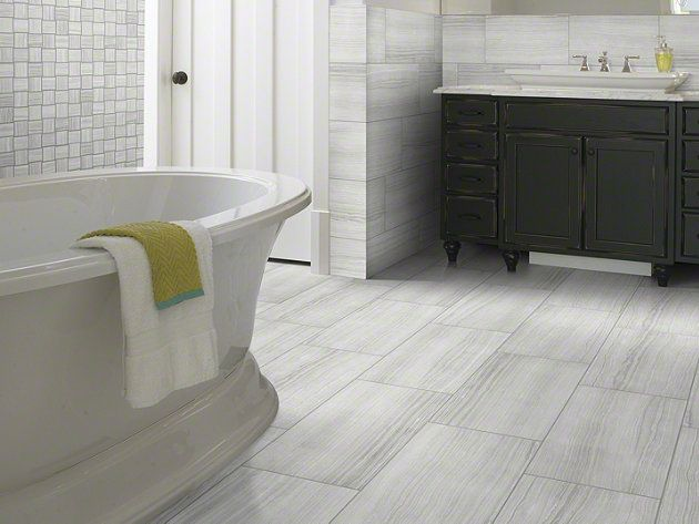 """Ceramic Tile in style """"Rockwood"""" color Glacier by Shaw Floors #Modern #Stunning #perfectmasterbathupdate"""