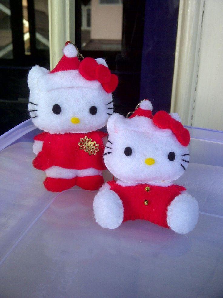 kitty santa red