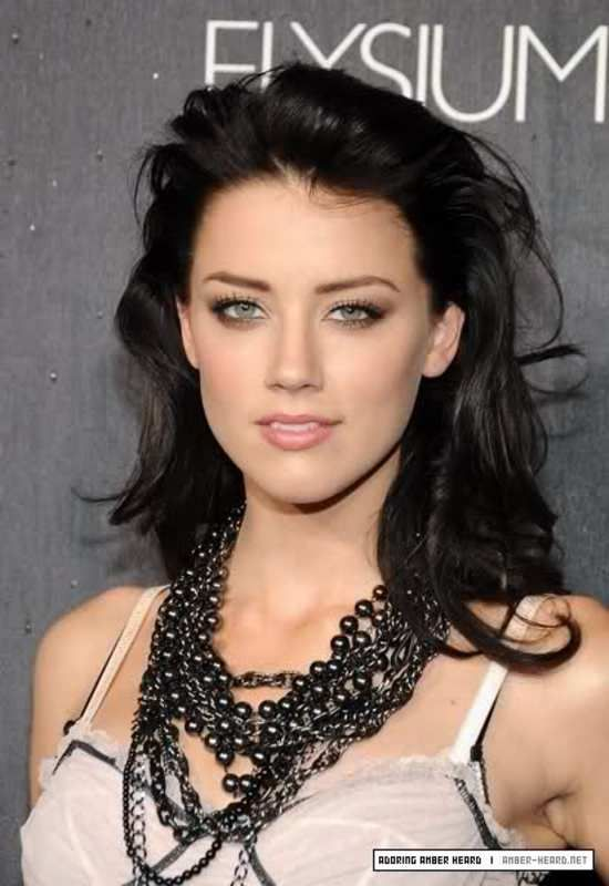 amber heard dark hair - Google Search