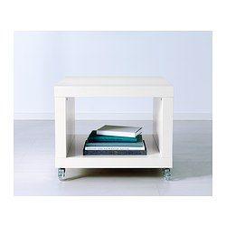 LACK Beistelltisch mit Rollen - weiß - IKEA