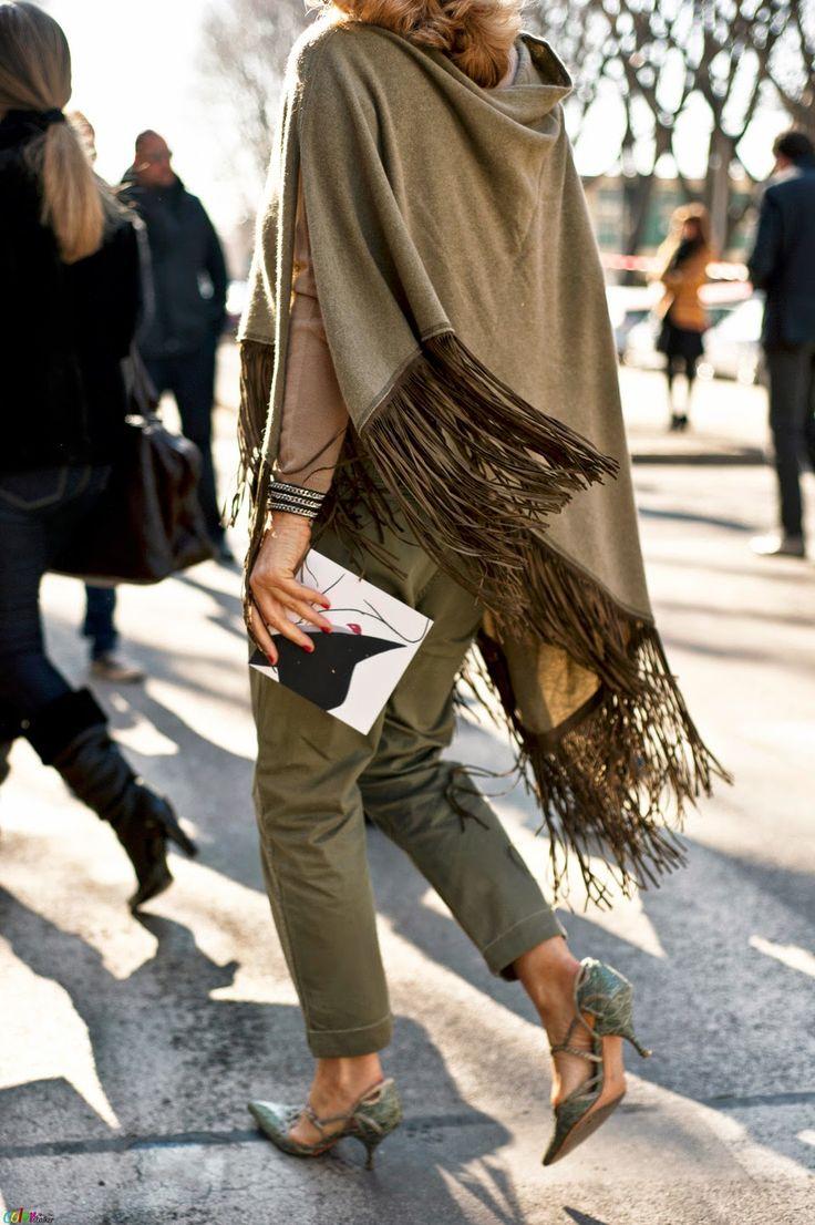 Street Style Inspiration:Fringes