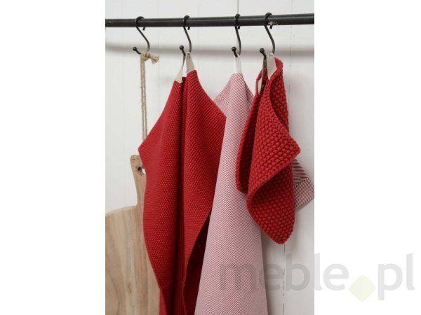Ręcznik Kuchenny Czerwony w Jodełkę Ib Laursen 6151-33, Ib Laursen - Wyposażenie wnętrz