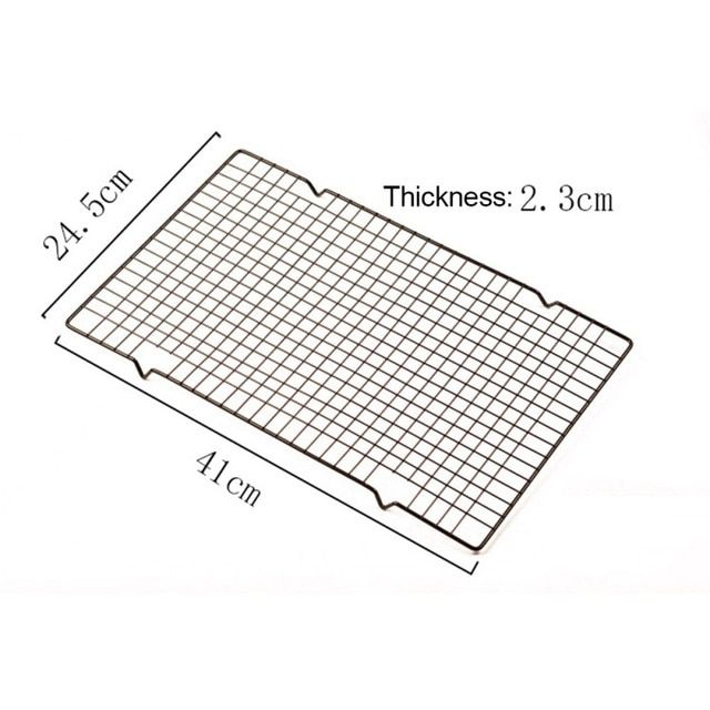 Stainless Steel Nonstick Cooling Rack Mesh Grid Baking Tray For