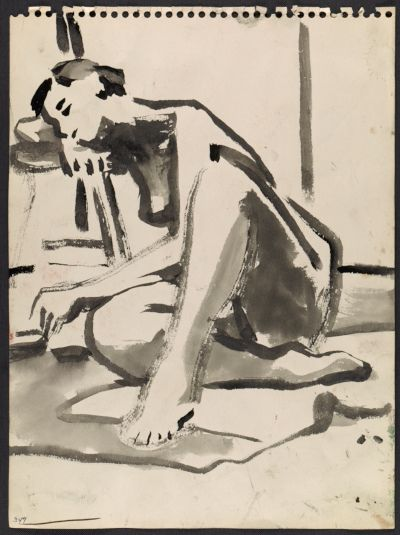 Citation: Figure sketches, circa 1960. David Park papers, Archives of American Art, Smithsonian Institution.