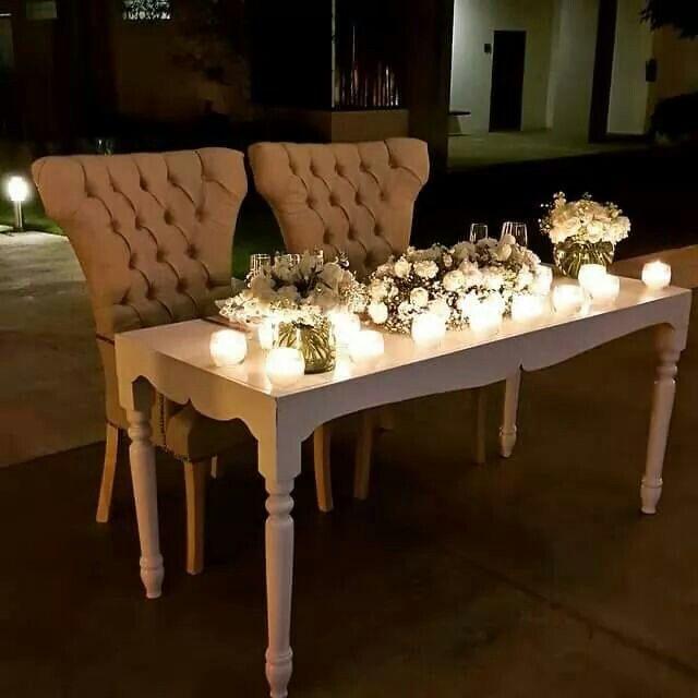Mesa de novios, estilo vintage