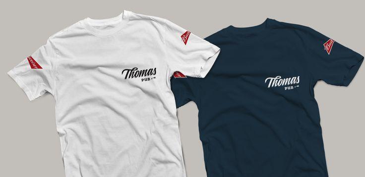 #graphicdesign #brandidentity #branding #logo #logotipo #sinalização #thomaspub #restaurantlogo #pub #bar #musendesign #designqueinspira #t-shirt