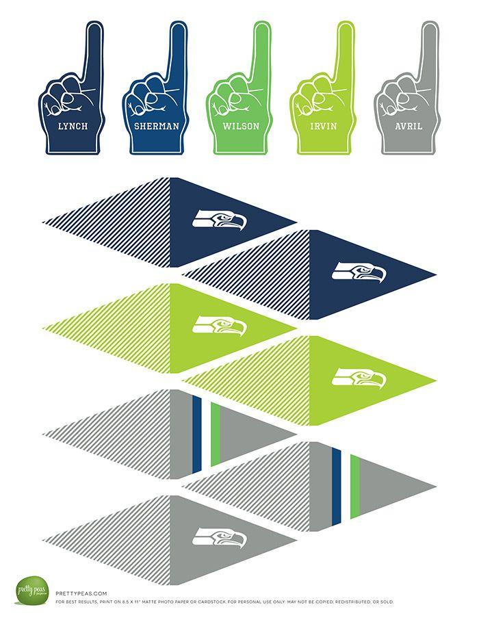 Free Printable | Seattle Seahawks Cupcake Toppers | PrettyPeas.com