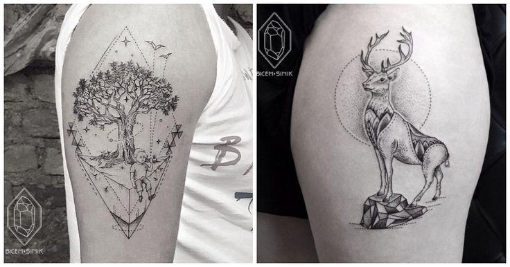 L'artiste Bicem Sinika un don. Le don de reproduire des tatouages magnifiques sur ta peau afin d'embellir ta personne. Et on sait très bien que tu en aurais bien besoin. En attendant, v