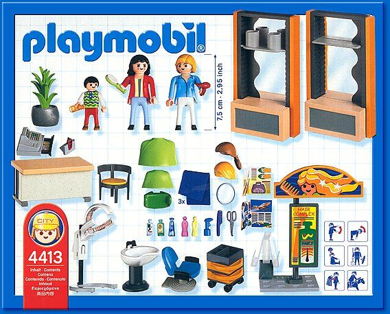 4413 beauty salon 2004 03 playmobil pinterest for Abc beauty salon