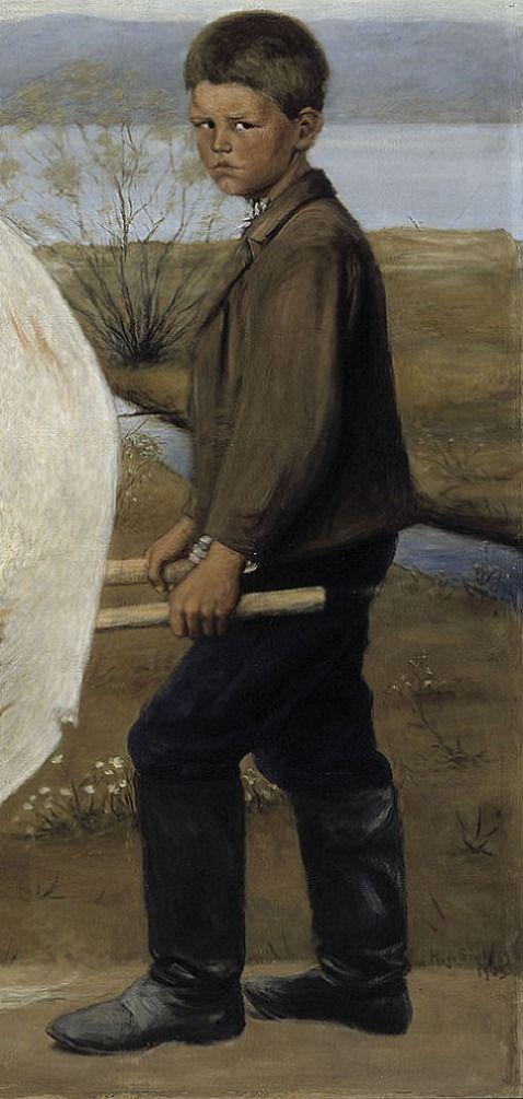 detail:  The Wounded Angel, 1903, Ateneum, Helsinki Hugo Simberg .