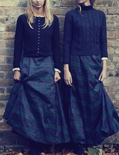 Sweaters and tartan taffeta==perfect!  THEFULLERVIEW