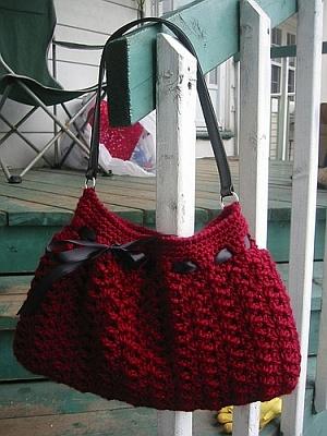 Crochet Hobo Bag LM0203 - Free Craft Patterns | Purple Kitty