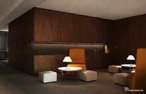Projekt wnętrza pomieszczenia socjalnego z blatem kuchennym. www.bartekwlodarczyk.com