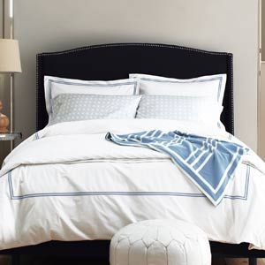 supima hemstitch percale bedding from garnet hill